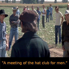 a meeting of the hat club for men